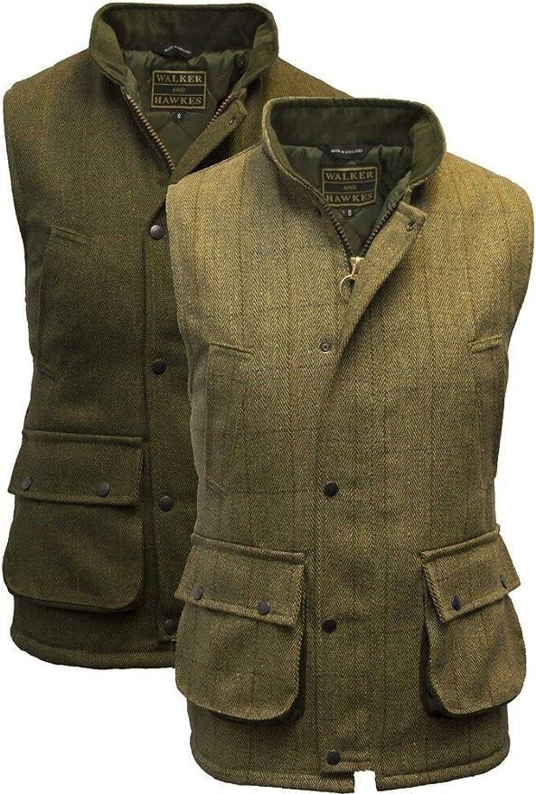 Homme Jeu Derby Tweed Gilet de chasse tir enrobé de téflon Gilet Veste sans manches