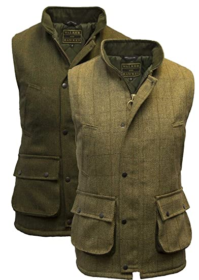 be82dc48778 Walker and Hawkes Men s Derby Tweed Shooting Waistcoat Country Gilet at Amazon  Men s Clothing store
