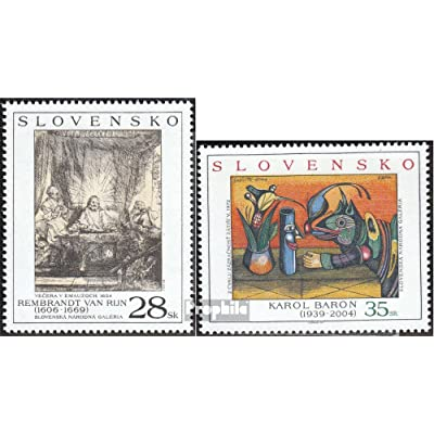 slovaquie 523-524 (complète.Edition.) 2005 Art (Timbres pour les collectionneurs)