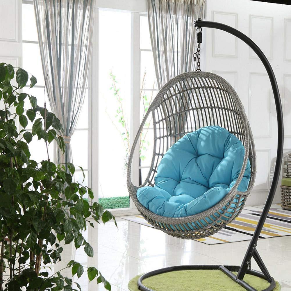 succeedw Swing Hanging Basket Seat Cushion Thicken Hanging Egg Hammock Chair Pads Waterproof Chair Seat Cushioning for Patio Garden