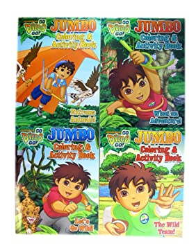 Go Diego Go Coloring Book Set - Diego Jumbo Coloring & Activity Book ...