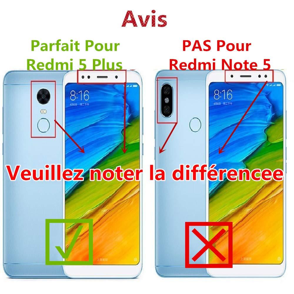 Vitre Tactile Assembl/é Remplacement Compatible avec Xiaomi Redmi Note 5 avec Verre Tremp/é Redmi Note 5, Lot de 2 Blanc SHANCHU Ecran LCD Digitizer Ecran: 5,99 Pouces