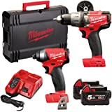 Milwaukee M18 FPP2 A-502 X Fuel Perceuse Duo 18 V 2 x batteries Li-ion 5,0 Ah
