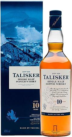Un clásico de Talisker, un whisky puro de malta de la isla de Skye,Ganador de la medalla de oro en e