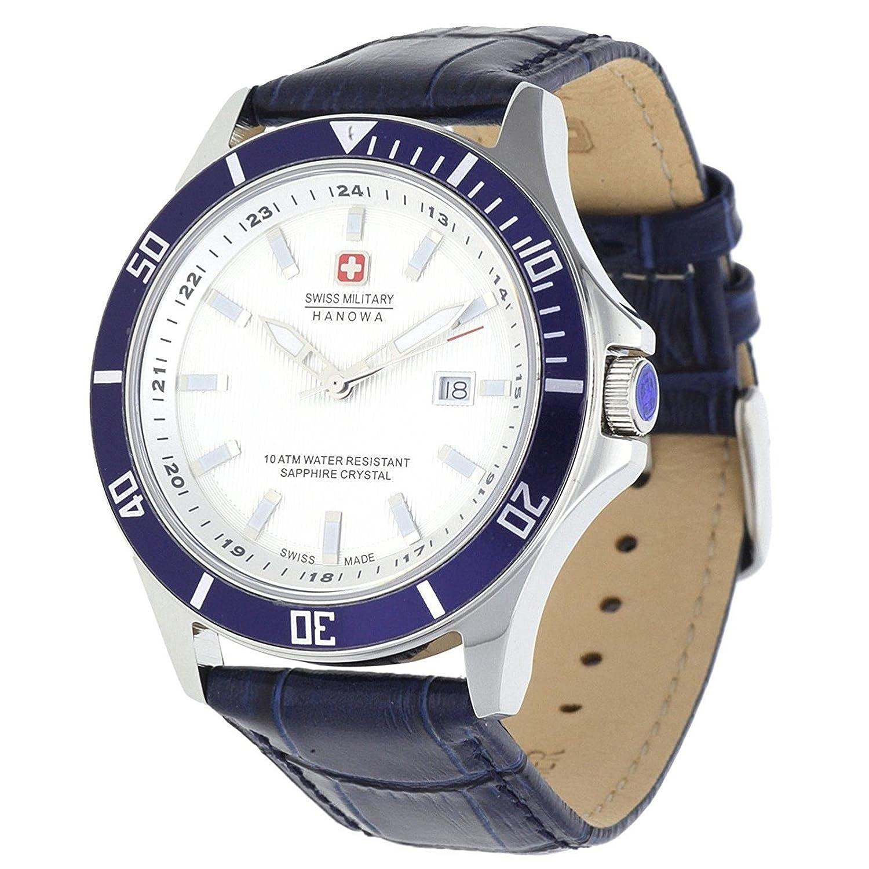 Swiss Military Herren Armbanduhr Hanowa Blau 06-4161-2-04-001-03