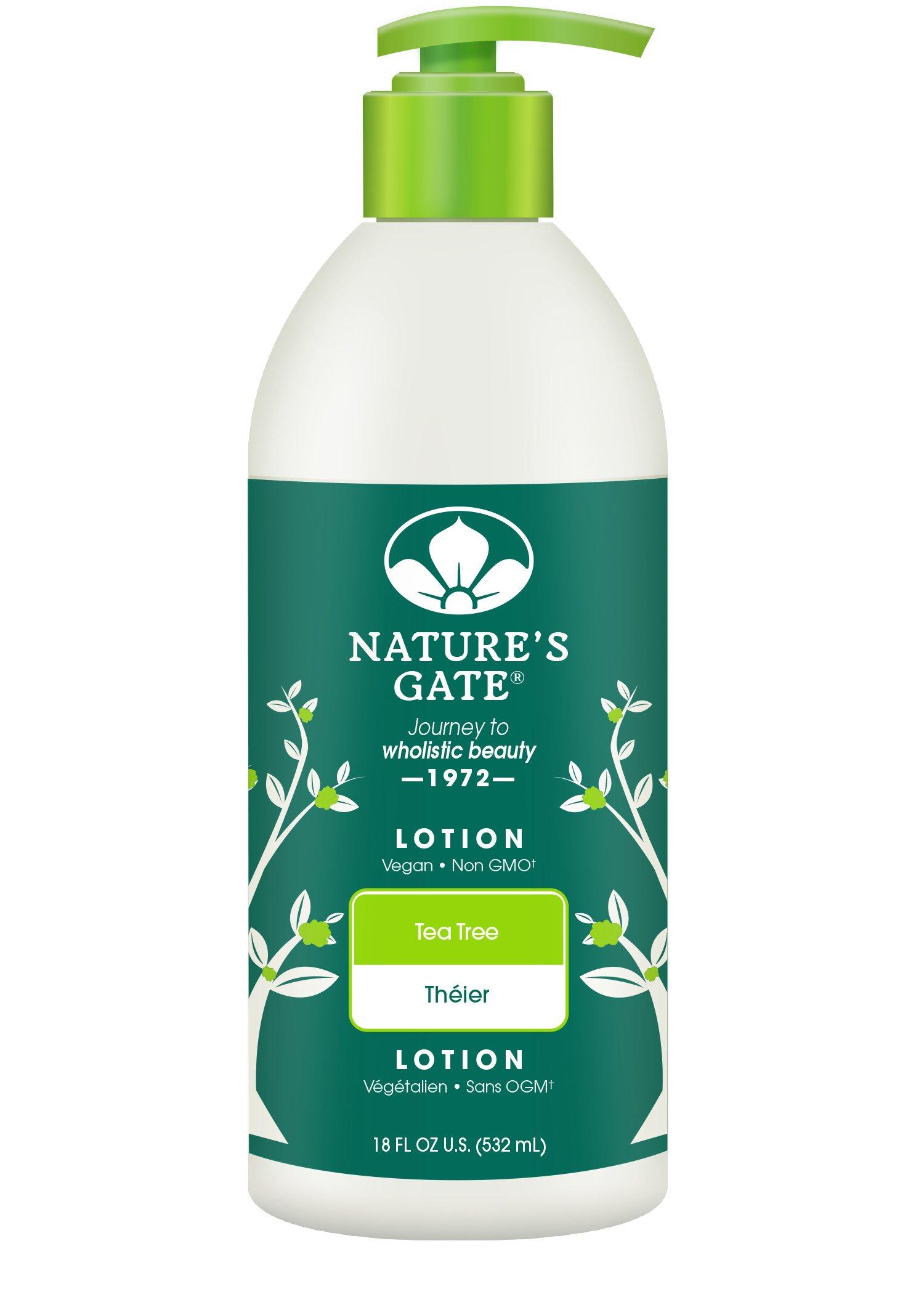 Nature's Gate Tea Tree Moisturizing Lotion for Irritated, Distressed Skin, 18 Ounce
