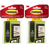 Command Large Picture-Hanging Strips, Black, 24-Sets
