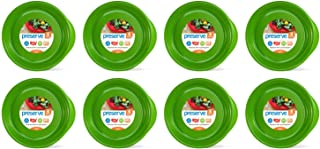 product image for Preserve Everyday BPA Free Dinner Plates Made from Recycled Plastic in the USA, Bulk Set of 32, Apple Green