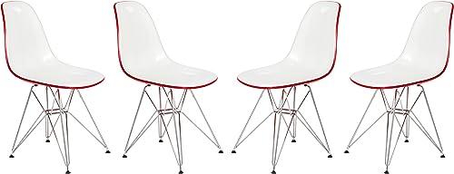 LeisureMod Cresco Modern Eiffel Base Dining Side Chair