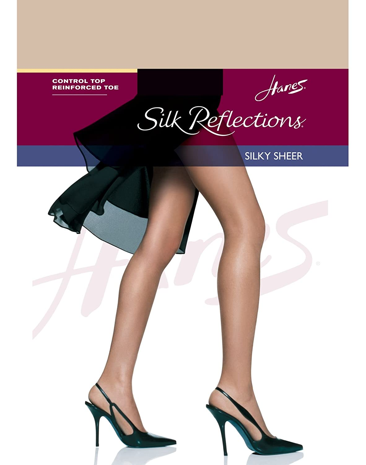 Hanes Womens Set of 3 Silk Reflections Control Top RT Pantyhose - Best-Seller! 11829-QL4