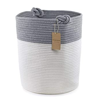 0da83b5ccb4e Amazon.com : Extra Large Cotton Rope Basket. 18inx15in Size - Perfect as a Storage  Basket or Laundry Basket, Toy Storage, Blankets Storage. : Baby