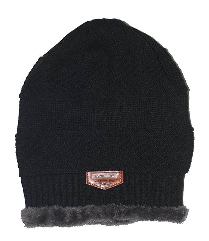 2003a849061 Ensnovo Mens Winter Beanies Hat Soft Lined Thick Wool Knit Skull Cap ...
