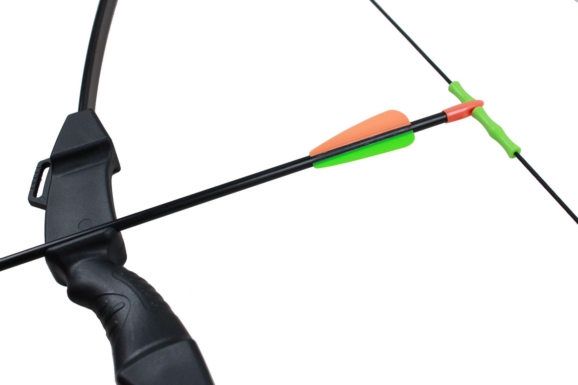 Geelife 45'' Basic Archery Bow and Arrow Set Start Recurve Bow Outdoor Sports Game Hunting Toy Gift Bow Kit Set with 2 Arrows and Target Sheet 18 Lb for Teens by Geelife (Image #4)