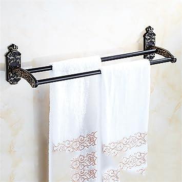 STAZSX Espacio para Colgar Toalla de Aluminio Espacio para Colgar Toalla de Aluminio Negro toallero para baño y Accesorios de baño, B: Amazon.es: Hogar