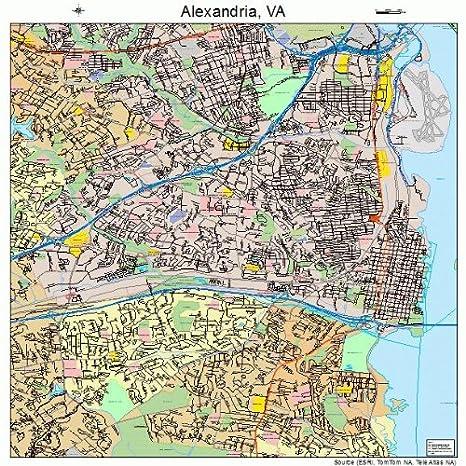 Amazon.com: Large Street & Road Map of Alexandria, Virginia VA ... on