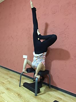 Aozora Balanced Body Headstand Bench- Ideal Chair for Practice Head Stand, Shoulderstand, Handstand and Various Yoga Poses. | Perfect for Both ...