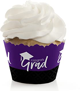 product image for Purple Grad - Best is Yet to Come - Purple Graduation Party Decorations - Party Cupcake Wrappers - Set of 12