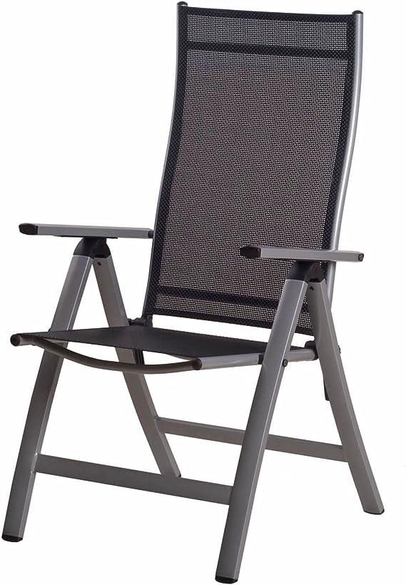 1 mesa de jardín 160 cm 6 silla plegable 6 cojines Sun Garden ...