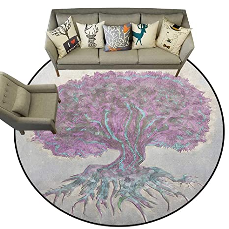 Amazon.com: Tree of Life,Carpet mat Watercolors Style Print ...