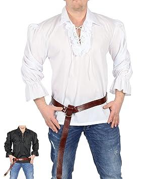Foxxeo Camisa Pirata Hombre Camisa Blanca Camisa Blanca ...