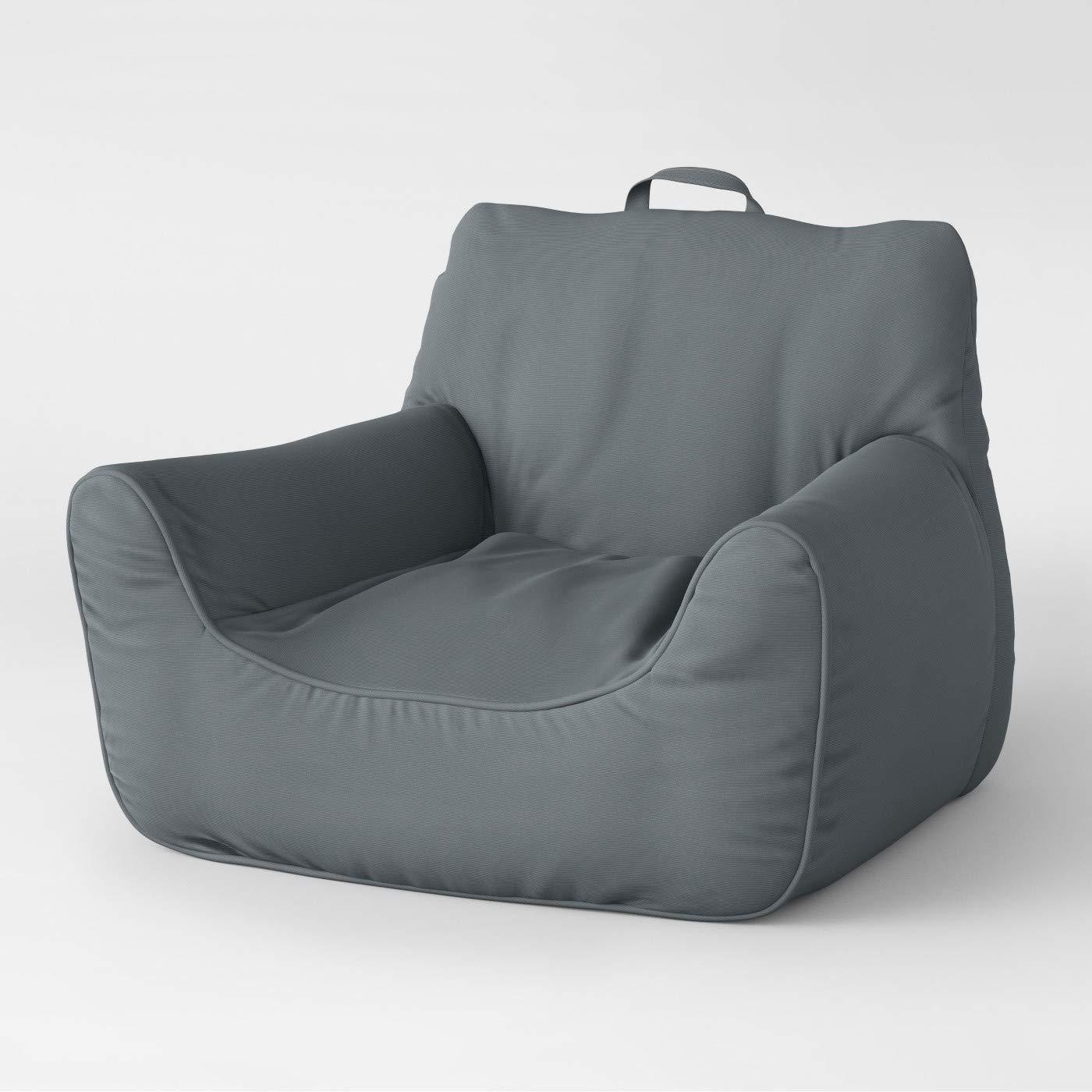 Excellent Amazon Com Pillowfort Gray Structured Large Bean Bag Chair Machost Co Dining Chair Design Ideas Machostcouk