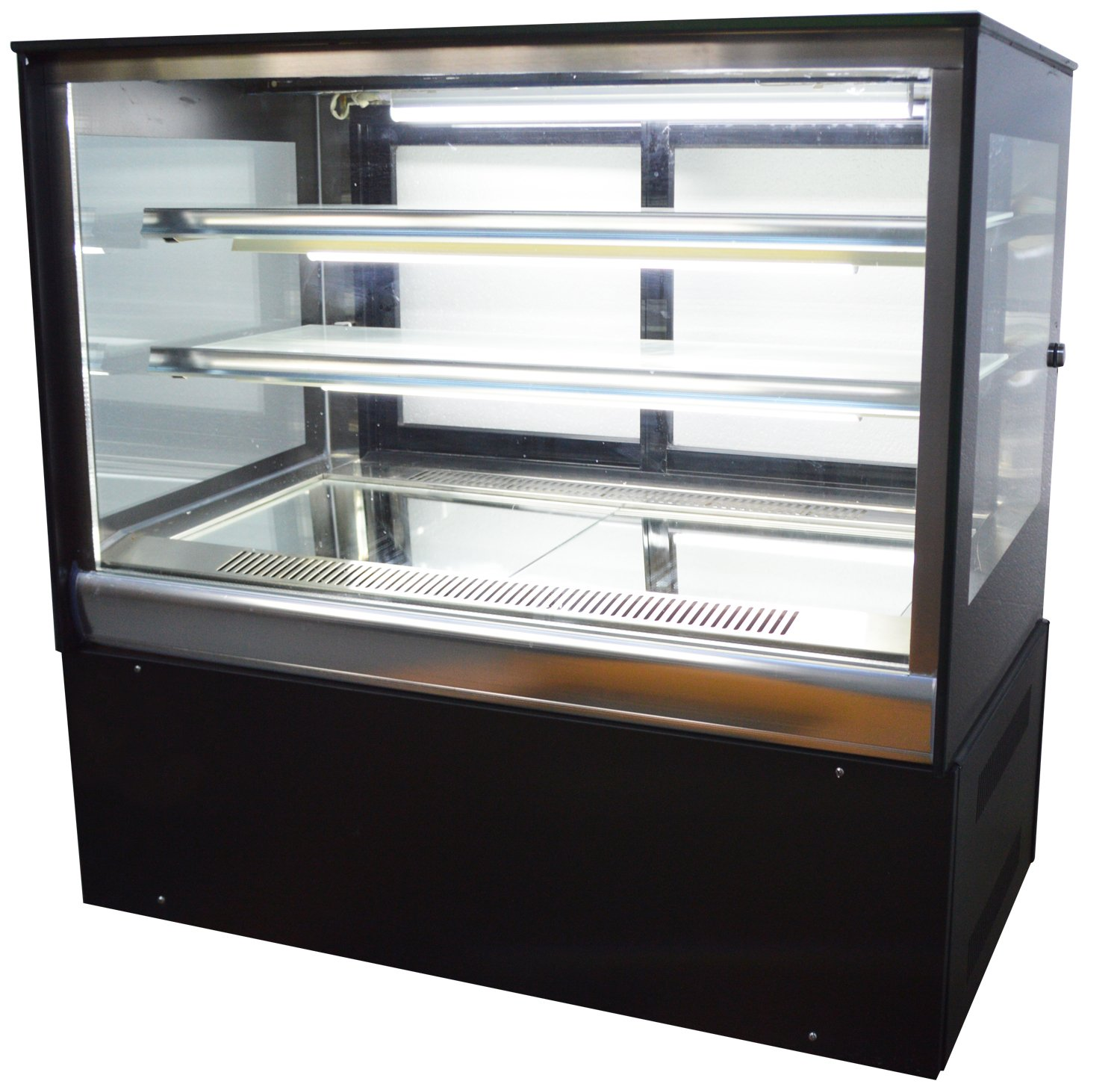 Commercial Countertop Refrigerated Cake Showcase Right Angle Bakery Cabinet Cooling Display Case with LED Light (Item#210080)