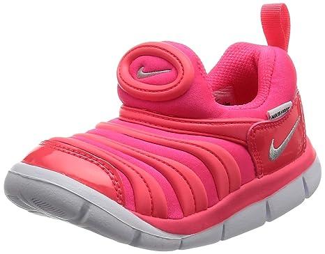 Nike Dynamo Free (TD), Zapatillas de Estar por Casa Bebé Unisex, Rosa (Racer Pink/Metallic Silver/Hot Punch 620), 22 EU