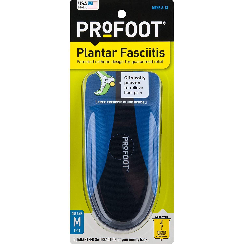 1 Pair by Profoot PROFOOT Plantar Fasciitis Orthotics Mens 8-13
