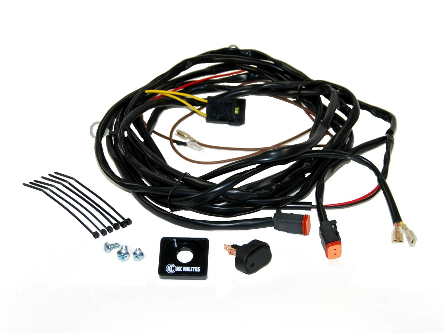 718WMAThaiL._SL1500_ amazon com kc hilites (6308) 110w wiring harness with 2 pin 16 Pin Wire Harness Diagram at aneh.co