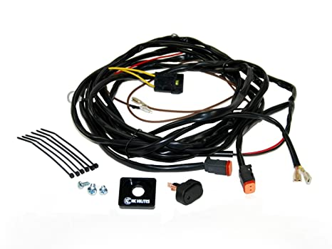 amazon com kc hilites 6308 110w wiring harness with 2 pin deutsch rh amazon com Truck Wiring Harness Automotive Wiring Harness
