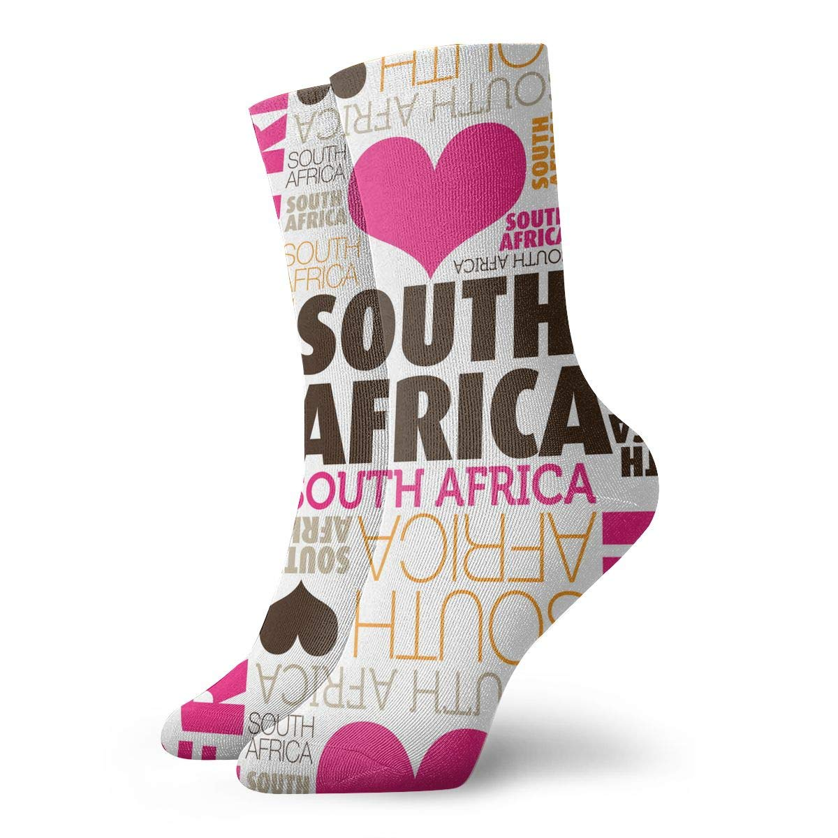 Women Men I Love South Africa Pattern Cushion Ankle Socks