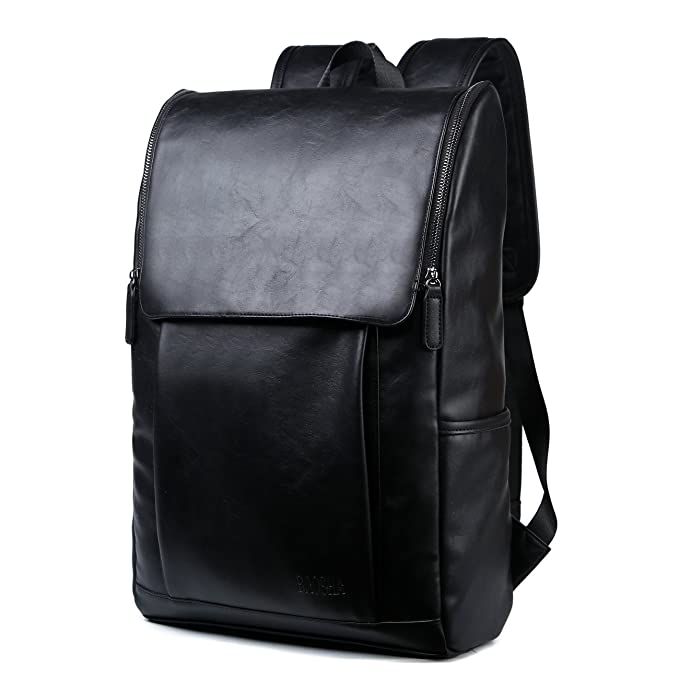 a7d48284c03a BAOSHA BP-25 PU Leather Laptop Backpack Computer Bag for 15.6 inch Laptop  Notebook College School Backpack Everyday Casual Daypacks Travel Hiking  Rucksack ...
