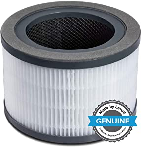 LEVOIT Vista 200 Air Purifier Replacement Filter, 3-in-1 Nylon Pre-Filter, True HEPA Filter, High-Efficiency Activated Carbon Filter, Vista 200-RF,Black