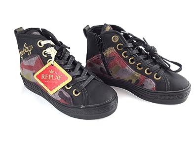 fe464e5d55 Replay BIRMIGHAM C.1392 Sneaker Gr. 32 Mädchen Schuhe Sneakers Girl Boots  Leder UVP