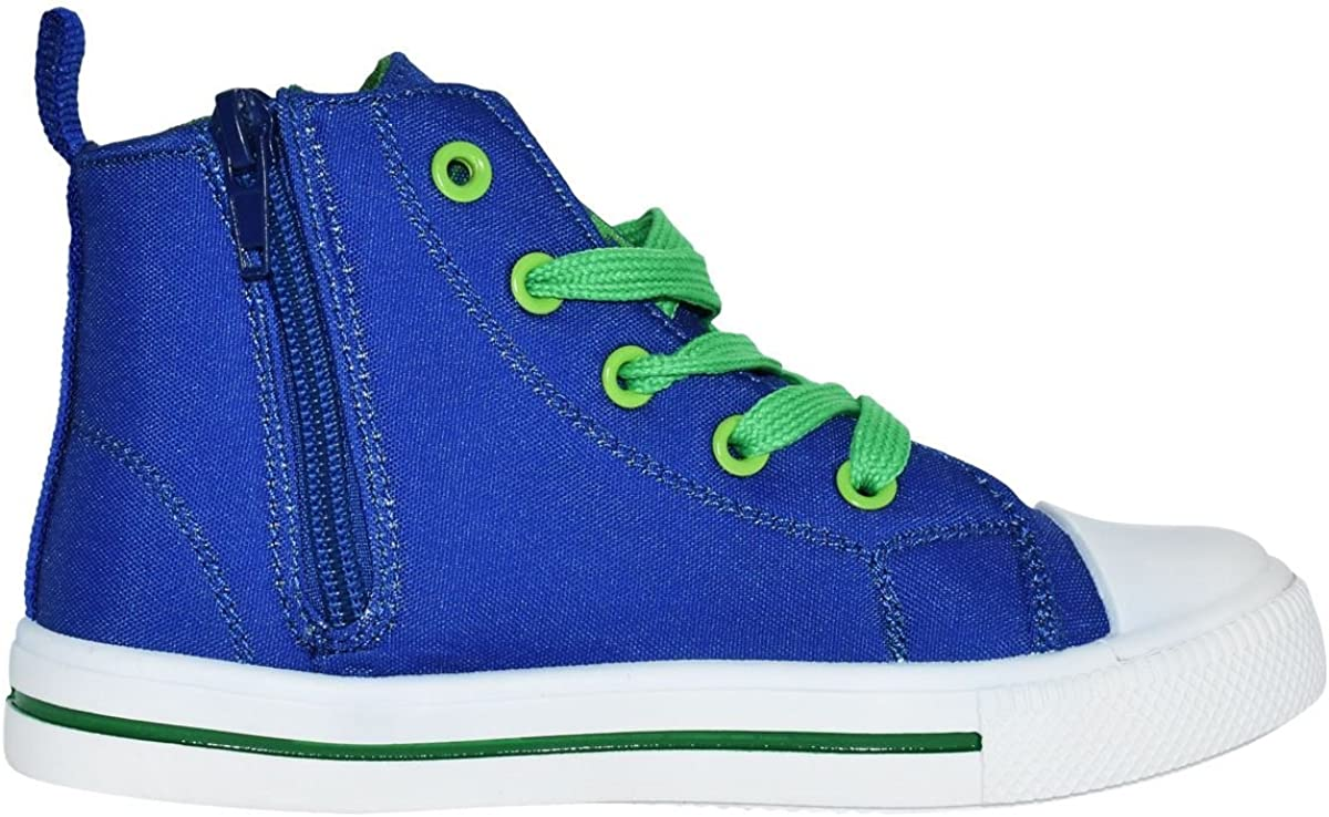 Paw Patrol Blue  Zip Up Hi-Top Canvas Trainers Sports Shoes Sizes 8-13 Child