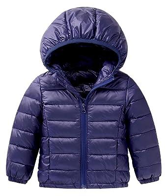 8ce592e77461 Amazon.com  Happy Cherry Baby Boys Girls Hooded Coat Winter ...