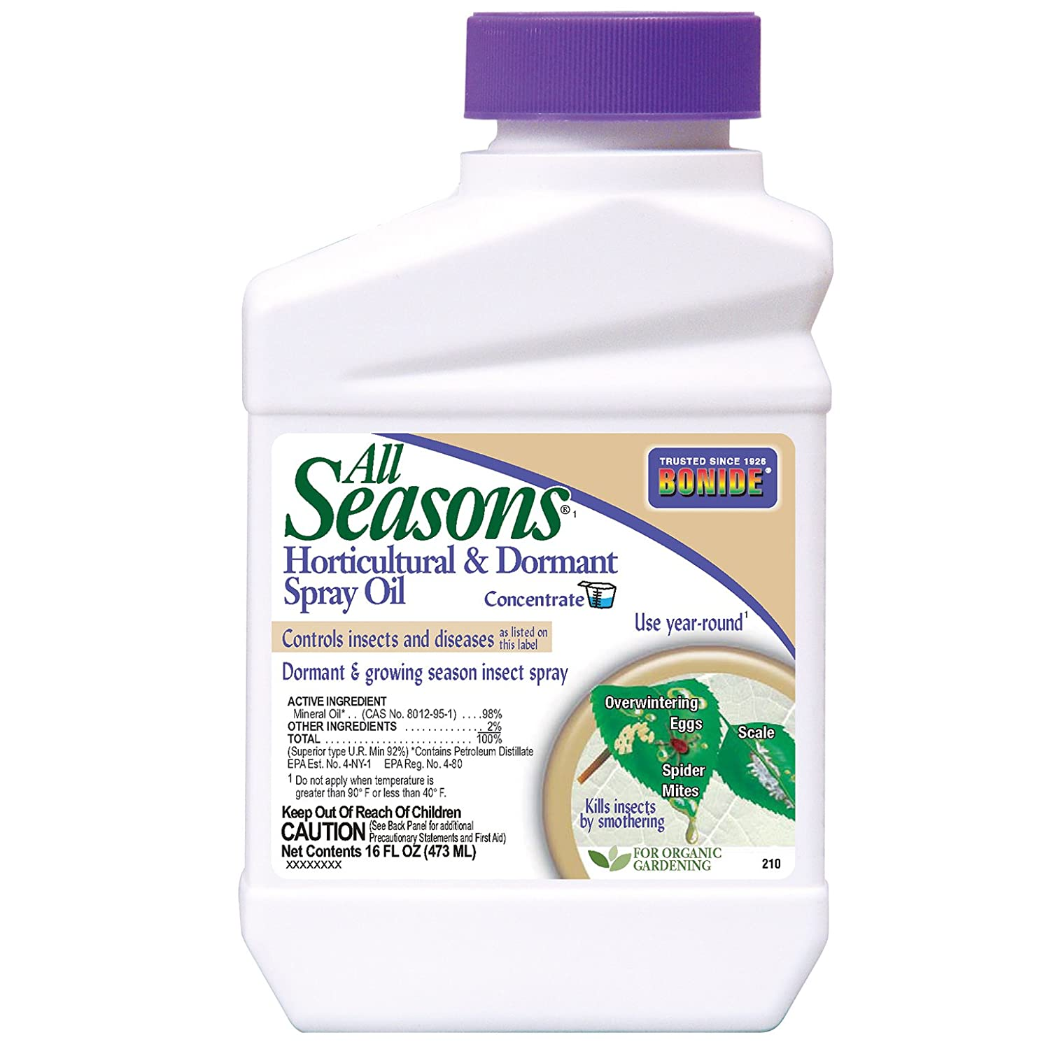 Bonide Products All Seasons 210 Horticultural Spray Oil Concentrate- 16 oz