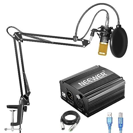Neewer NW-800 Kit de Micrófono de Condensador con Fuente de ...