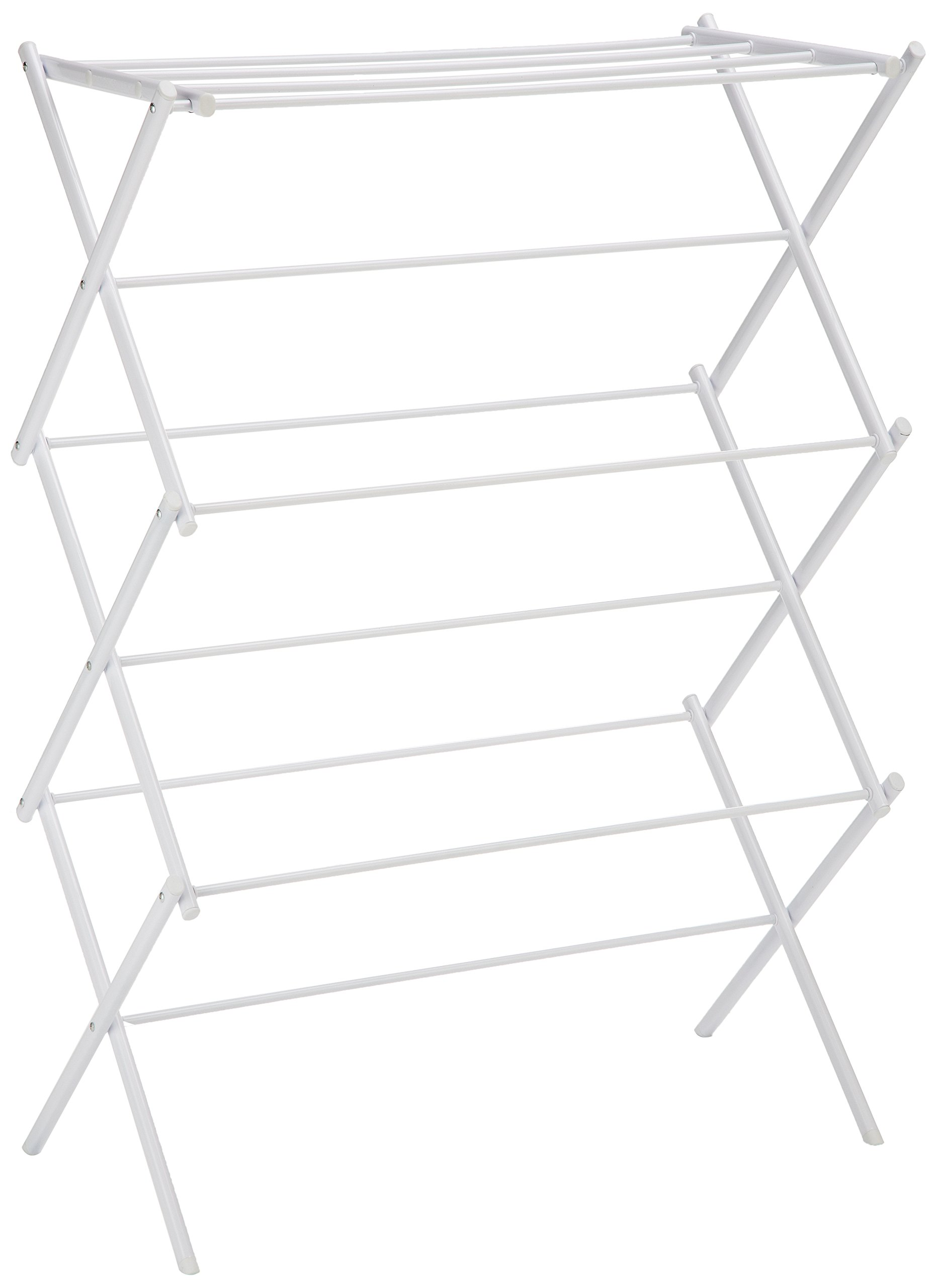 AmazonBasics Foldable Clothes Drying Laundry Rack - White by AmazonBasics