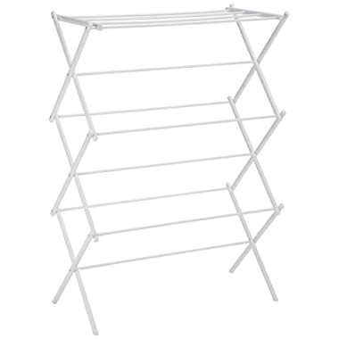 AmazonBasics Foldable Drying Rack - White