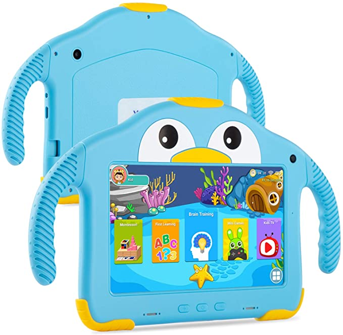 Tablet for Toddlers Tablet Android Kids Tablet with WiFi Dual Camera 1GB 16GB Storage 1024 x 600 IPS Screen Parental Control Mode Google Playstore YouTube Netflix for Boys Girls Android 10   Amazon
