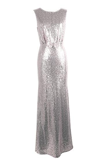 7da8ff7c40 Gladiolus Femme Robe Longue de Soirée Robe de Mariage sans Manche Robe à  Paillettes: Amazon.fr: Vêtements et accessoires