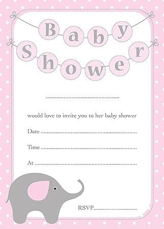 Baby Shower Invitaciones Lindo Diseño Del Elefante