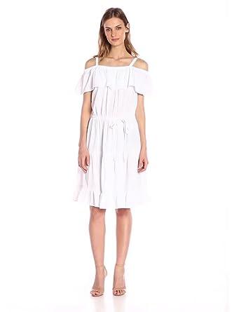 3de0d61bcc0 Design History Women s Twill Flounce Dress
