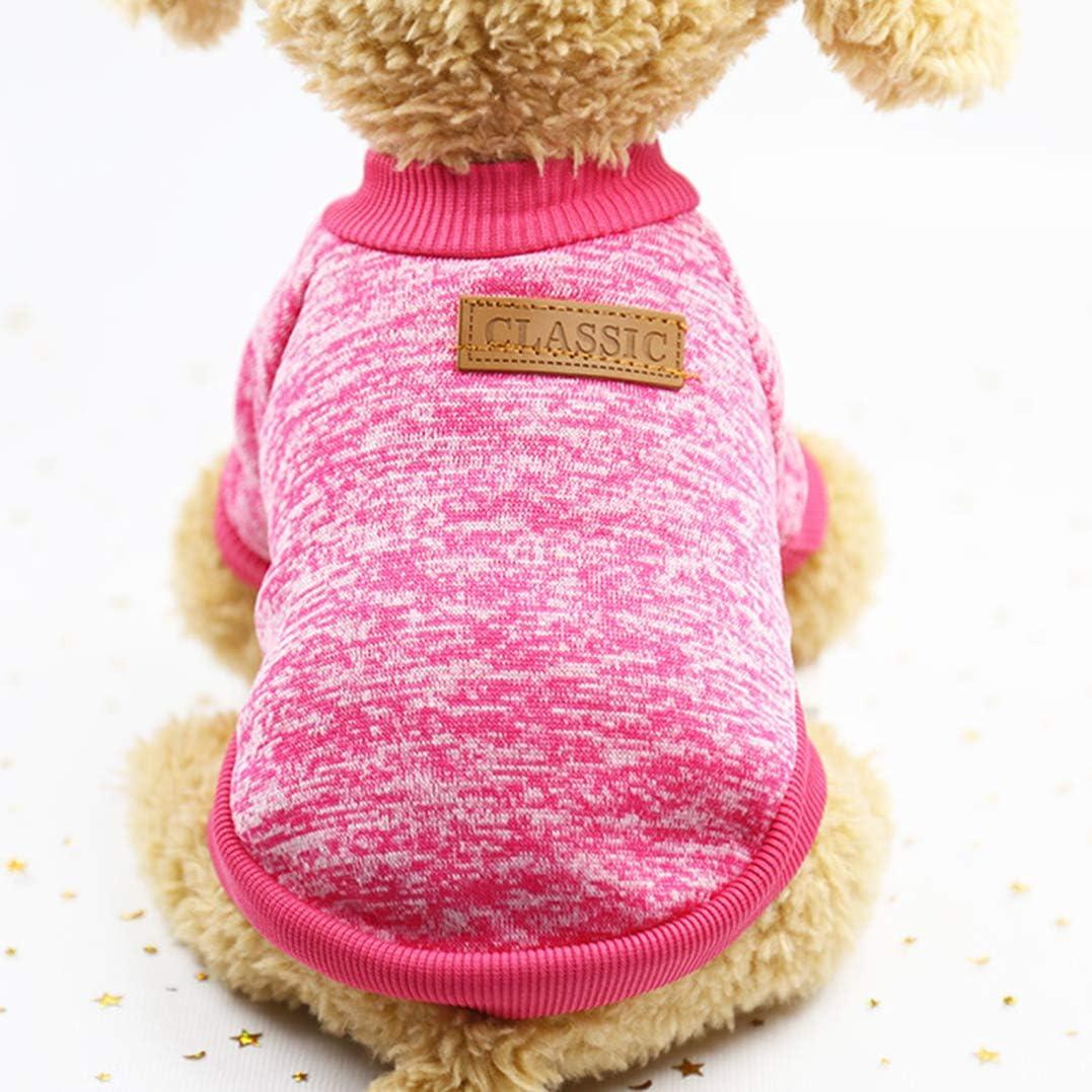 Suéter del Perro del Gato del Animal doméstico, Ropa Caliente del Gato de los Puentes del Perro, Capa del Animal doméstico del paño Grueso y Suave para el Perro de Perrito