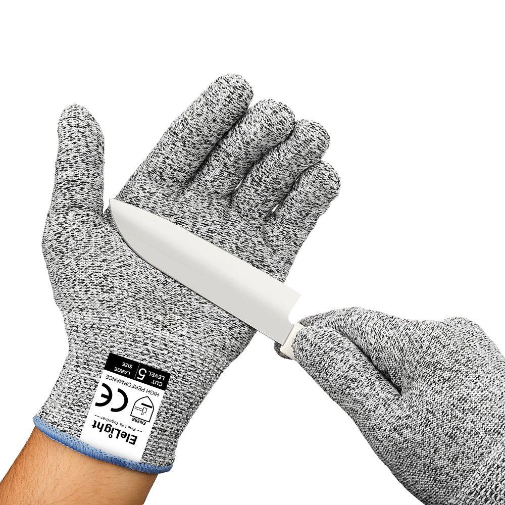 elelight 5085 Cut Resistant Gloves Withレベル5保護、高パフォーマンスプロフェッショナルグローブの作業やホーム L 43237-2 B0783PHXHY  L