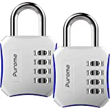 Puroma 2 Pack Combination Locks 4 Digit Padlock for School Gym Locker, Sports Locker, Fence, Toolbox, Case, Hasp Storage…