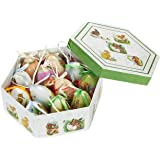 Hanging Mini Easter Egg Ornaments Decorations - Multicolor Bunny and Duckling Designs, Shabby Chic Designs for Home Décor, Multicolor, Green Box, Large Eggs , 12 Pack