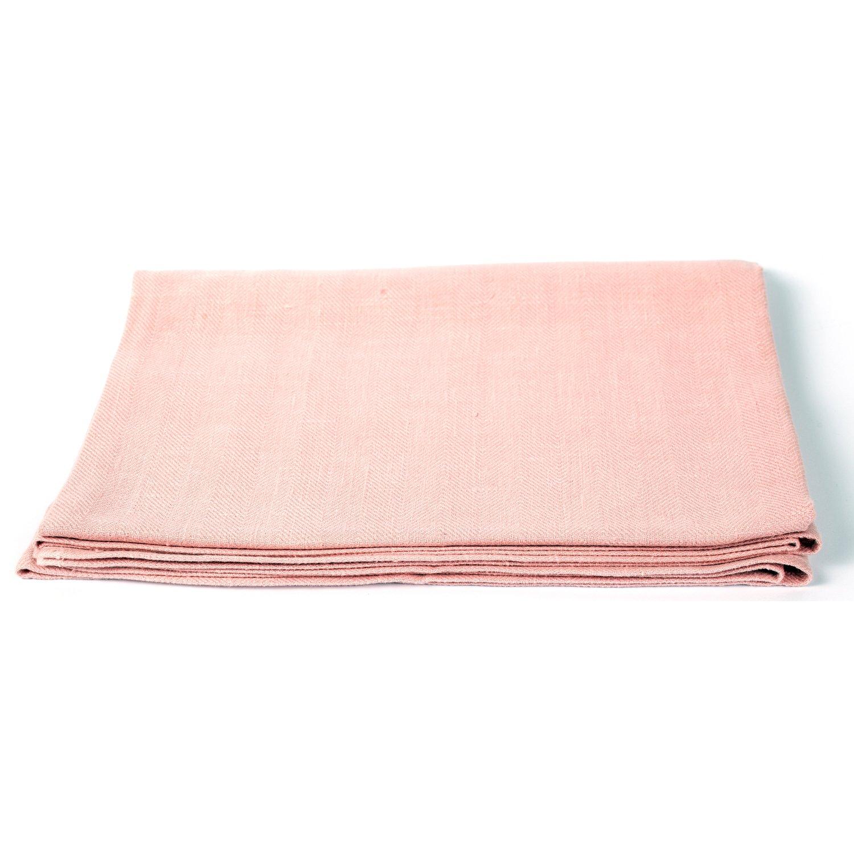 Peach Huckaback Linen Bath Towel Lara
