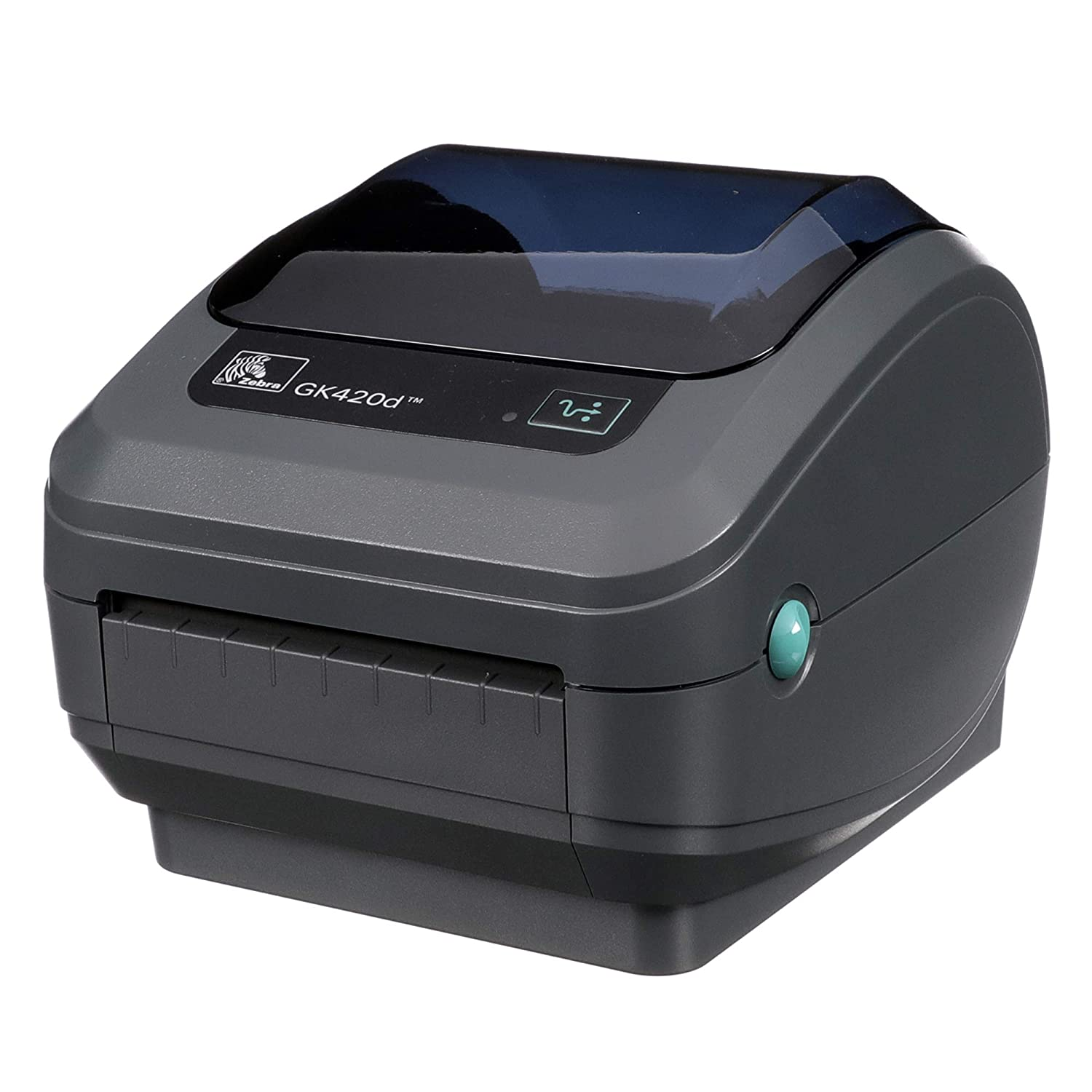 Zebra - GK420d Direct Thermal Desktop Printer for Labels, Receipts, Barcodes, Tags, and Wrist Bands - Print Width of 4 in - USB, Serial, and Parallel ...